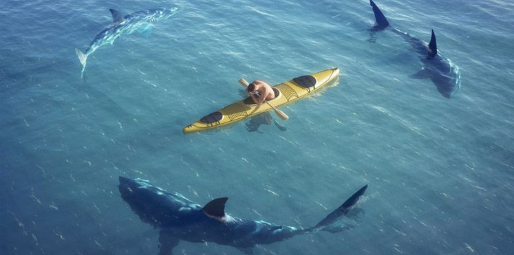 5 mistakes freelancers make. also, sharks