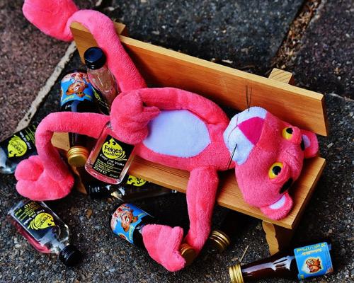 Drunk pink panther